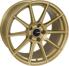 "Enkei TS-10 Wheels (18x8.5"", 50mm, 5x114.3, Set/4) Gold STi Wheels  4998856550GG"
