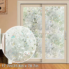 3D Rainbow Frosted Window Film Glass Sticker Privacyy Static Cling Home Decor US