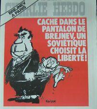 CHARLIE HEBDO No 344 JUIN 1977 REISER BREJNEV A PARIS