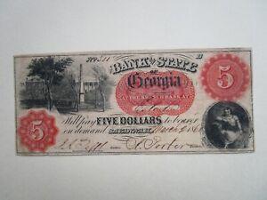 $5 State of Georgia Eatonton Branch 1860