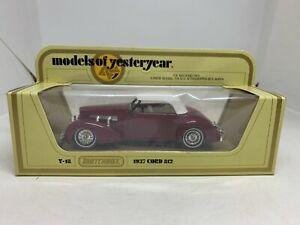 Matchbox Models of Yesteryear Y-18 1937 Cord 812 Burgundy NEW