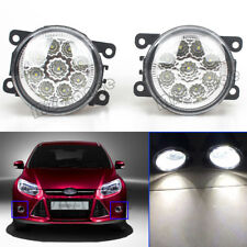 2X LED Front Bumper Fog Driving Light For Ford Fiesta Explorer Fusion Focus TSX
