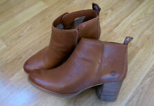Timberland Eleonor Street Tan Brown Real Leather Ankle Boots Size UK 8 / US 10