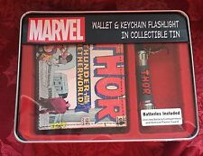 Marvel Wallet & Keychain Flashlight in Collectible Tin Thor