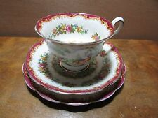 ROYAL ALBERT CHELSEA BIRD TRIO CUP SAUCER PLATE