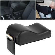 1x Universal Car Armrest Box Mats Car Cooling Black Soft PU Leather Pad Mats Set