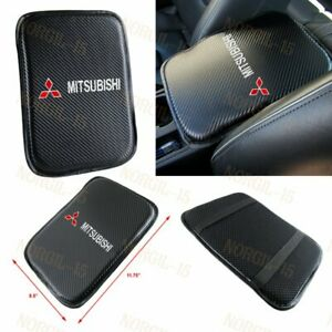 For MITSUBISHI Embroidery Carbon Center Console Armrest Cushion Mat Pad Cover