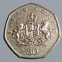 2013 Rejected Christopher Ironside 50p Coin Collectable Circulated British