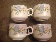 "Set of 4 Vintage Lenox Temper Ware ""Sketchbook"" Cups Mugs"