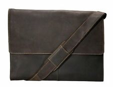 Visconti 16052 X Large Oil Brown Leather Messenger Bag 13.3 Inch Laptop Case