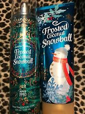 BATH & BODY WORKS FROSTED COCONUT SNOWBALL BODY CREAM  & FRAGRANCE MIST DUO!!
