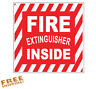 FIRE EXTINGUISHER 1 PC - Vinyl Decal Sticker Truck Tractor-Trailer Cab Emergency