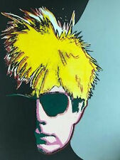 ANDY WARHOL by STEVE KAUFMAN Mixed Media Screen Print on CANVAS Signed