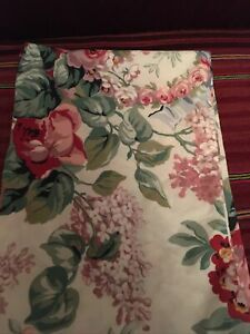 Ralph Lauren 1 ALLISON Floral KING Pillow Case Sham Lilacs Roses Cotton