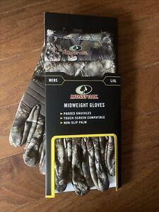 Mossy Oak® L/XL Gloves Men's Break Up Midweight Non-Slip Palm Touch Screen