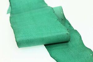 Karung Snake Leather Snake Skin Snakeskin Hide Craft Supply Glazed Green