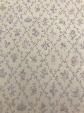 Tiny Toile Lavender Waverly Fabric BY THE YARD RARE!