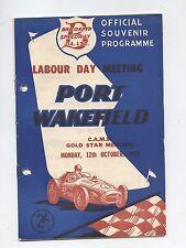 1959 Port Wakefield Programme Racing Touring Sports Motorcycle Race Program