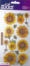 EK SUCCESS VELLUM SUNFLOWERS Scrapbook Craft Cardmaking Stickers Embellishment