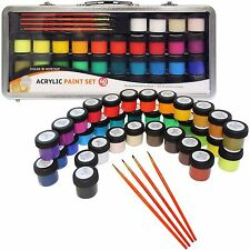 Daler Rowney Simply Acrylic 40 Piece Art & Craft Paint Set in Metal Case