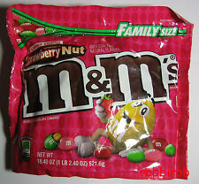 (1 kg  = 28,74 €) M&M´s STRAWBERRY NUT im family size bag +++ 521,6 gr  +++