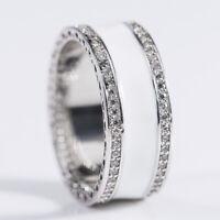Gorgeous 925 Silver Jewelry White Cubic Zircon Women Wedding Ring Size 6-10
