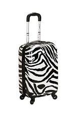 Rockland Luggage 20 In Carry on Hardcase Expandable Zebra Print Suitcase TSA