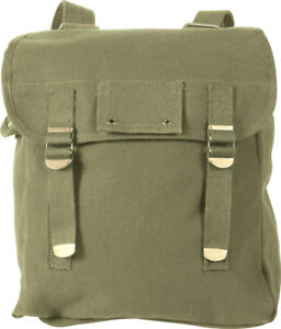 Military Musette Bag Heavyweight Cotton Canvas Personal Mini Carry Backpack