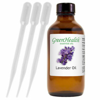4 fl oz GreenHealth Lavender Essential Oil Therapeutic Grade w/ 3 Free Droppers