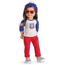 🌟American Girl Doll Star Spangled Fan Gear Beanie Bobble Hat NIB Perfect Gift💕