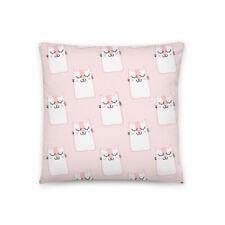 Cute Pink Sleepy Kitten Cat Pillow
