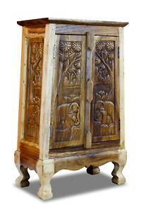 Solid Wood Cabinet Dresser Thailand Furniture Handmade Asian Telefonschrank