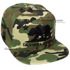 California Republic Baseball Cap CALI Bear Hat Snapback Adjustable Flat Men Hats
