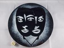 Grande émail murales visages masques années 60 schibensky PERLI ère MIDCENTURY