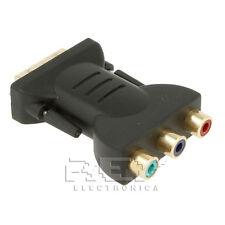 Adaptador DVI-I (18+5) Macho a 3RCA Hembra Negro v235