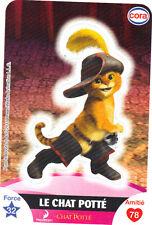 Vignette autocollante CORA Dreamworks n° 29/112 - Le chat Potté (5577)
