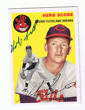 1954 Topps ARCHIVE #256 HERB SCORE signed card