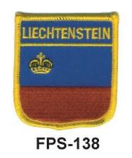 2-1/2'' X 2-3/4 LIECHTENSTEIN Flag Embroidered Shield Patch