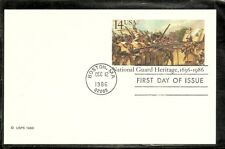US SC # UX114 National Guard Heritage,Postal Card FDC. Ready For Cachet