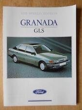 FORD GRANADA GLS 2.9 EFi V6 orig 1989 UK Mkt sales brochure