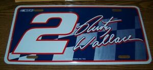 RUSTY WALLACE #2 RICO METAL LICENSE PLATE BRAND NEW!!!