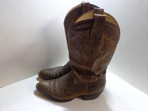 MONTANA 9.5 D Men's Handmade Sanded Sharkskin Cowboy Western Boots