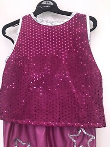 Girl's Disco Diva Dressing Up Costume New Age 3 - 4