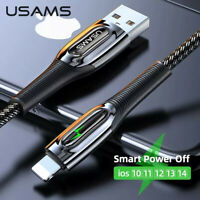 Fast Charging Cable 2.4A Auto Power Off Smart Cycle Charge For iPhone 12 11 iPad