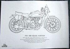 Dibujo de línea de calidad de 1945 30 M MANX Norton-LD11