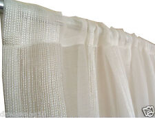 Quality Rod Pocket linen look  Sheer Curtain150cmx230 cm- white