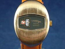 Vintage Lasser Caballeros Reloj Suizo Jump Hour Circa 1970s Nuevo Viejo Stock