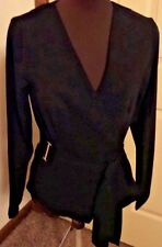 Dorthy Perkins Women's Black Knot Shirt with Decorative Gold Buckles NWTags SZ 4