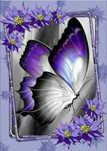 Purple Butterfly 5D Diamond Painting Stitch Kits Full Drill Art Home Decors