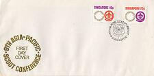 Singapur: 1974 Asia-Pacífico Scout conferencia SG 233-4 sobre primer día cubierta enfermo.